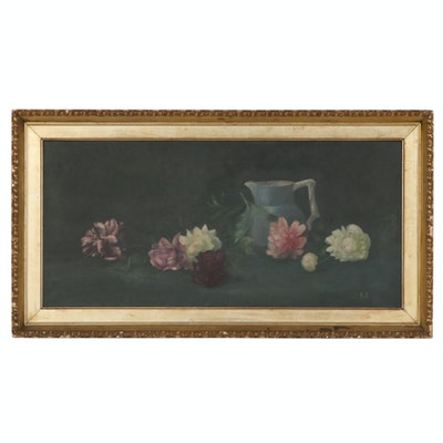 Continental Style Still Life Oil Painting, 19th Century