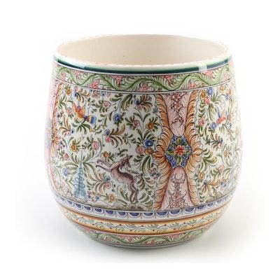 Portuguese Hand-Painted Ceramic Planter
