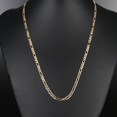 14K Figaro Chain Necklace