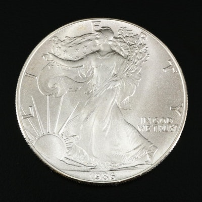 1986 Inaugural Year American Silver Eagle Bullion Dollar Coin