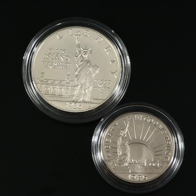 1986 Statue of Liberty Centennial Commemorative Proof Two-Coin Set