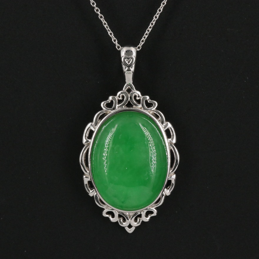 Sterling Silver Jadeite Necklace