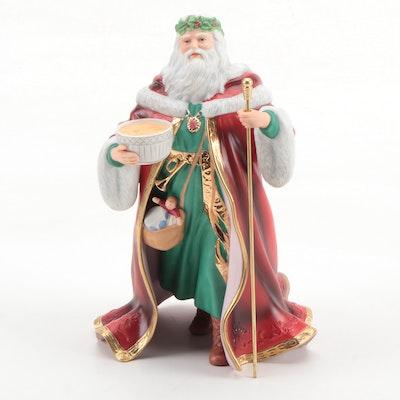 "Lenox ""Father Christmas"" Santa Claus Fine Porcelain Figurine, Late 20th Century"
