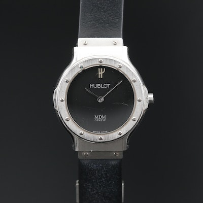 Hublot MDM Classic Stainless Steel Quartz Wristwatch