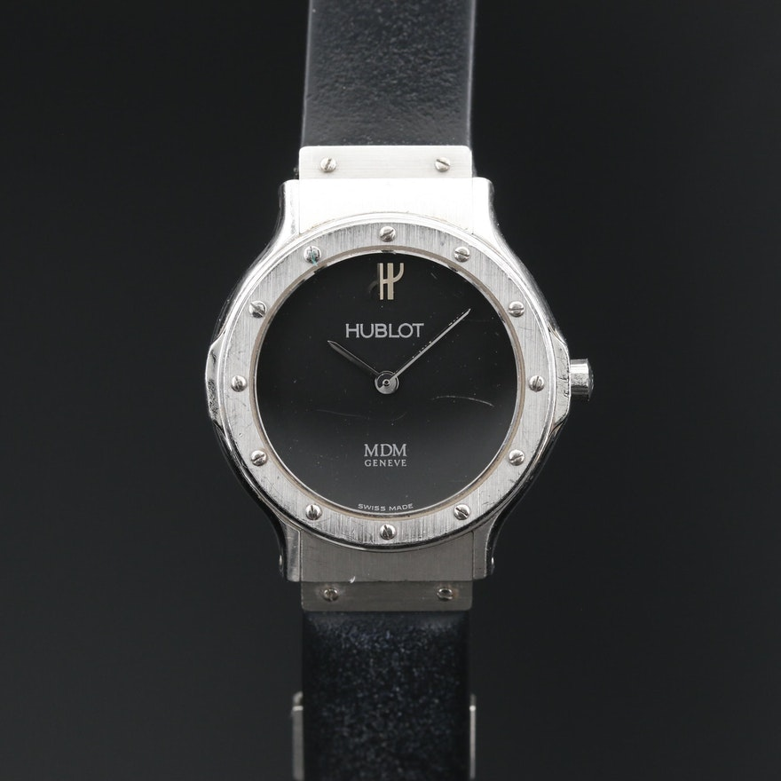 Hublot MDM Classic Stainless Steel Quartz Wristwatch