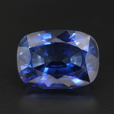 Loose 56.74 CT Laboratory Grown Sapphire with GIA Report