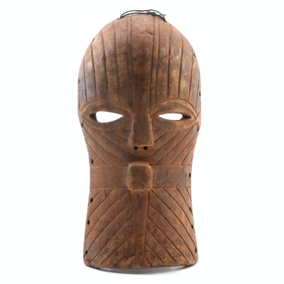 Songye Style Wood Carved Mask, late 20th Century