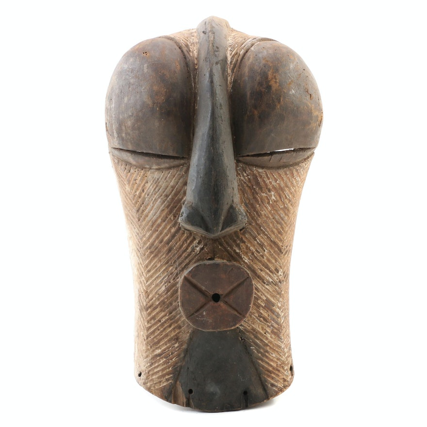 Songye Style Wood Carved Mask, 20th Century