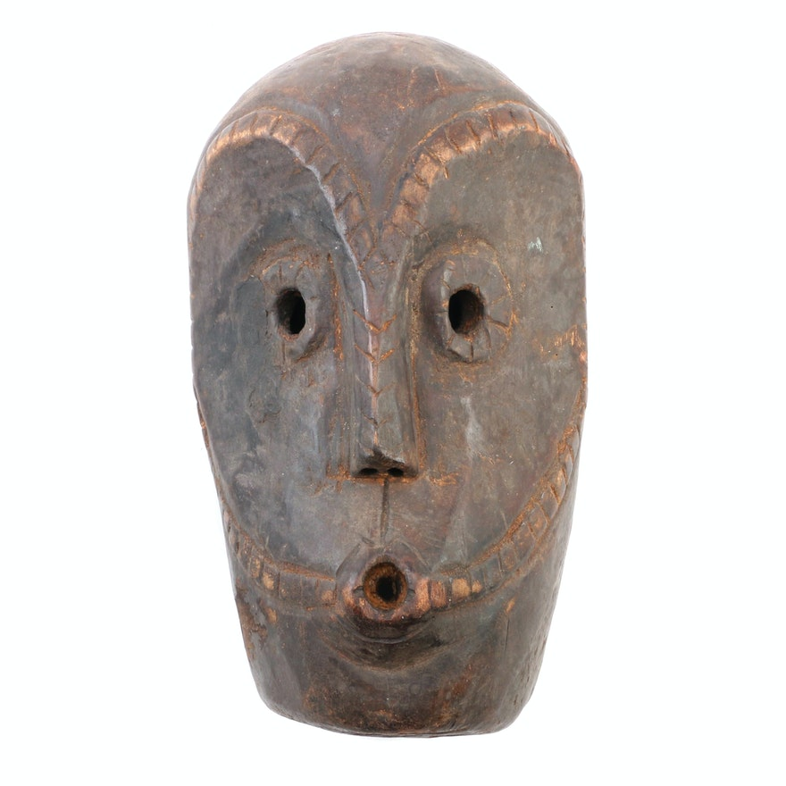 Central African Carved Wood Mask, 20th Century