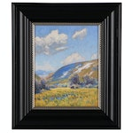 """Taylor J. Lynde Landscape Oil Painting """"Young May Shadow"""", 2020"""