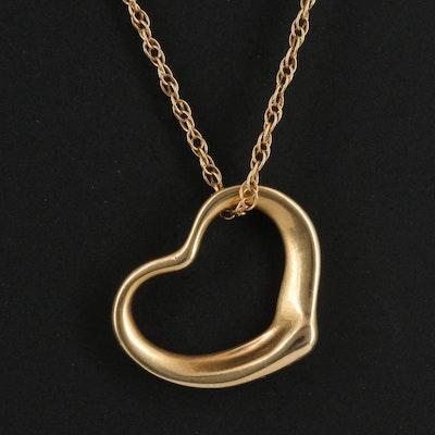 14K Heart Necklace