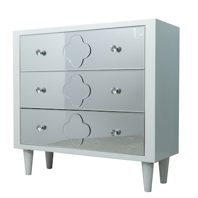 Modern Chest of Drawers with Mirrored Drawer Fronts