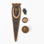 Abraham Lincoln Commemorative Bookmark and Lapel Pins