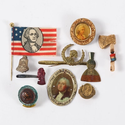 George Washington Commemorative Pins and Buttons