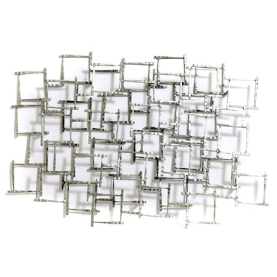 Contemporary Brutalist Style Steel Wall Art