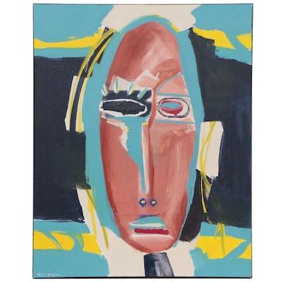 "R.C. Raynor Acrylic Painting ""Zemi"", 2020"