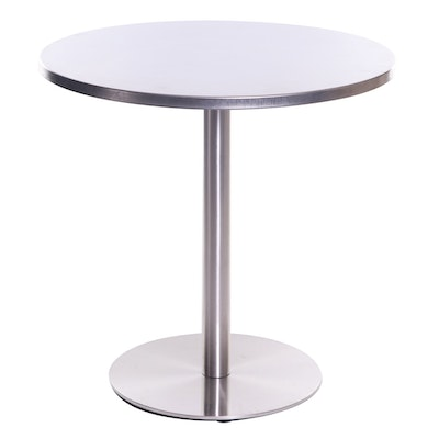 CB2 Polished Stainless Steel Bistro Table
