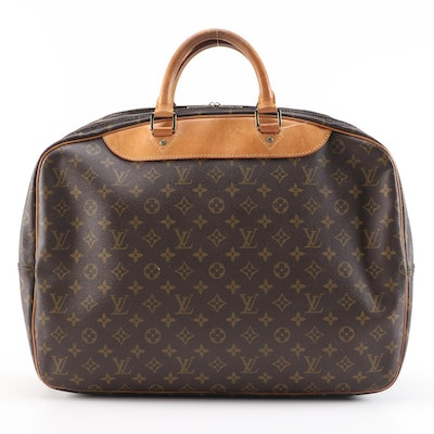 Louis Vuitton Two Pouch Weekend Bag in Monogram Canvas and Vachetta Leather