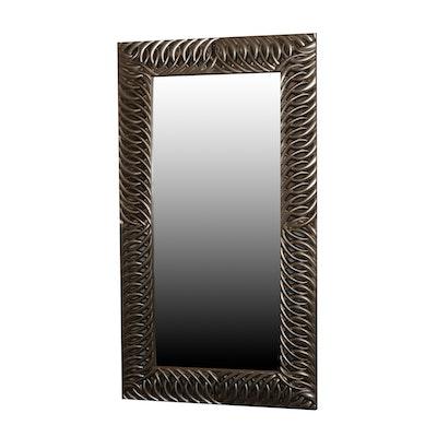 """Bassett Silver Satin """"Marlow Leaner"""" Full-Length Mirror"""