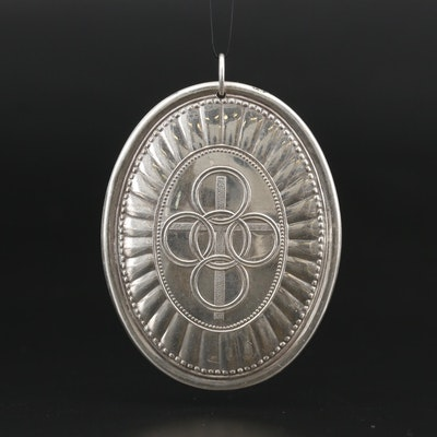 """Towle """"Twelve Days of Christmas"""" Sterling Five Golden Rings Ornament, 1975"""