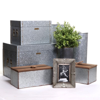 Hearth & Hand Galvanized Storage Boxes and other Desk Accessories, Contemporary