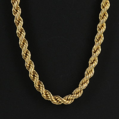 18K Twisted Rope Chain Necklace
