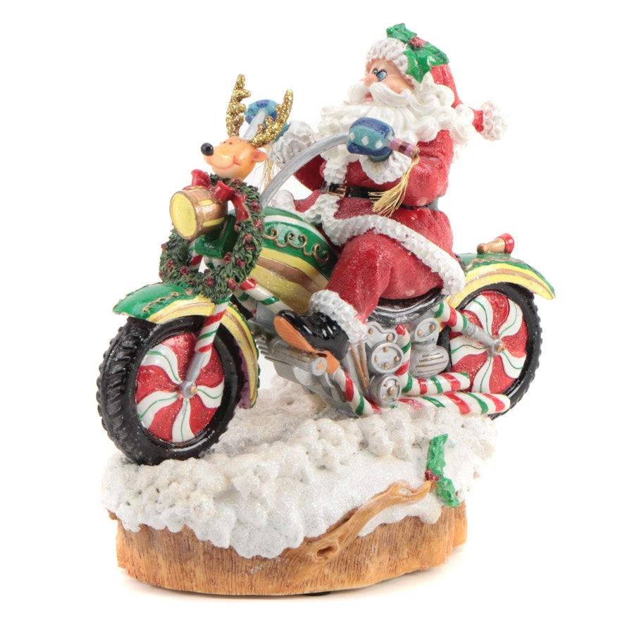 """Fitz and Floyd """"Adventures of Santa Claus"""" Music Box, Early 21st Century"""