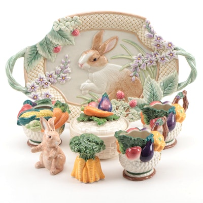 Fitz and Floyd and OCI Ceramic Garden Themed Table Accessories