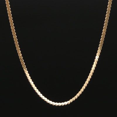 18K Serpentine Chain Necklace