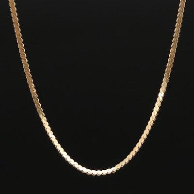 18K Serpentine Chain Necklace