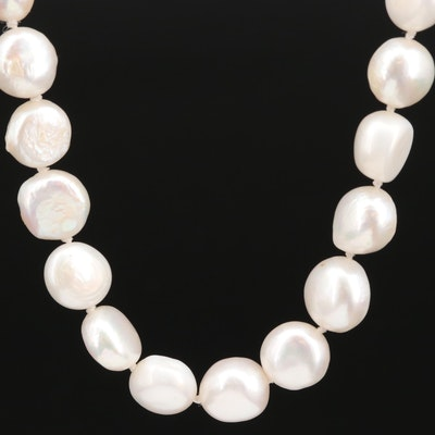 Hand Knotted Pearl Necklace