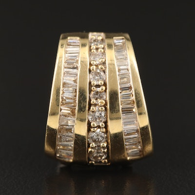 14K 1.05 CTW Diamond Slide Pendant