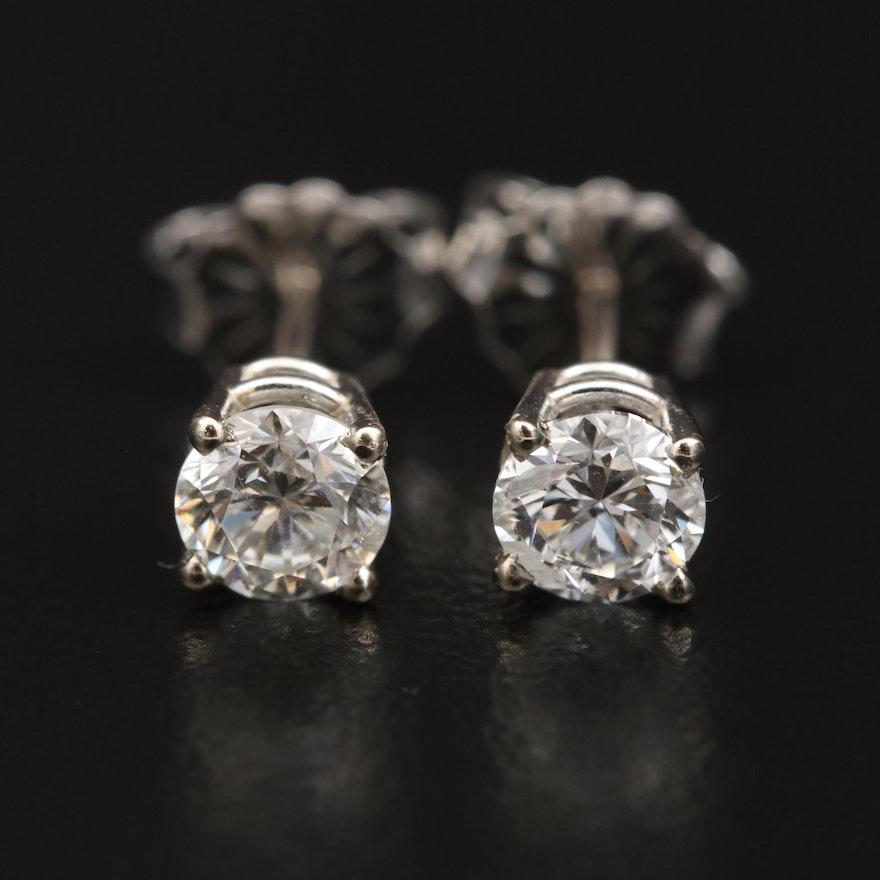 14K 0.73 CTW Diamond Stud Earrings