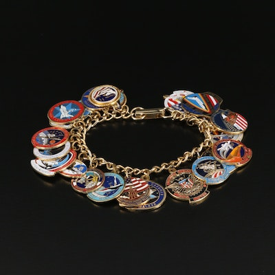 NASA Flight Charm Bracelet