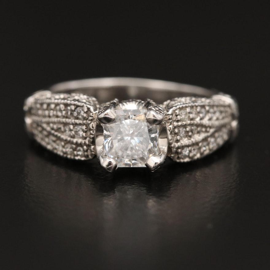 14K 1.18 CTW Diamond Ring
