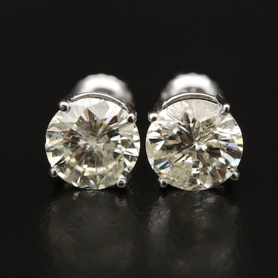 14K 3.11 CTW Diamond Stud Earrings