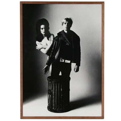 "Carl Fischer Silver Print ""Susan Bottomly and Andy Warhol"""