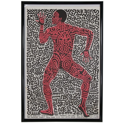 """Tony Shafrazi Gallery Exhibition Poster for Keith Haring """"Into 84"""""""