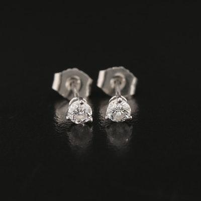 Platinum 0.25 CTW Diamond Martini Set Stud Earrings