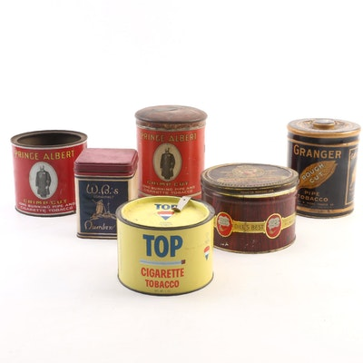 Cigar, Cigarette, Pipe Tobacco Tins Including Prince Albert, Granger and Other