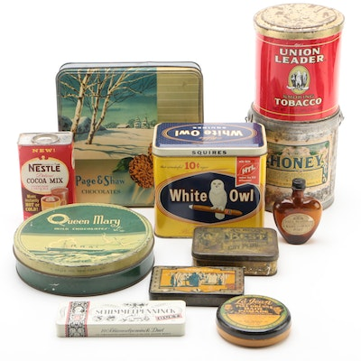 Product Tins and Bottle Including Nestlé, Page & Shaw Chocolates, and More