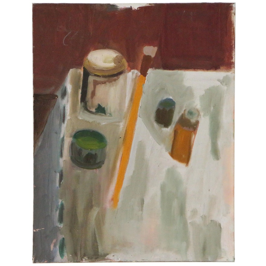 Jerald Mironov Expressionist Still Life Oil Painting