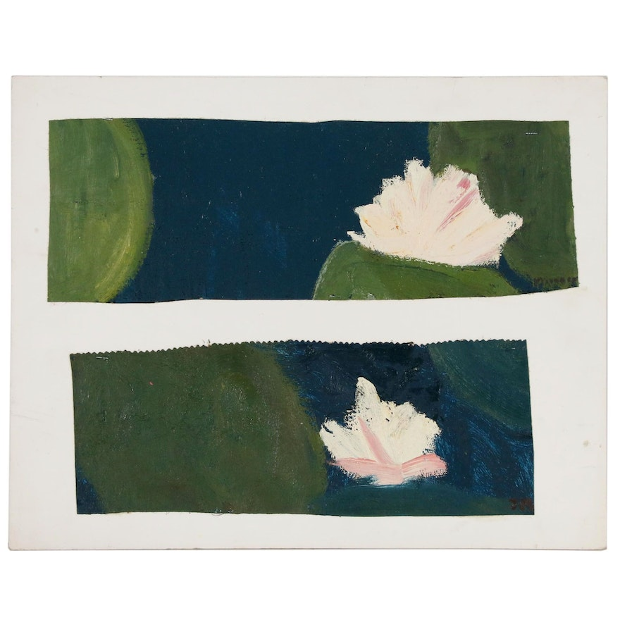 Jerald MironovOil Painting Fragments of Water Lilies, 1996