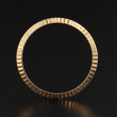Rolex 18K Gold Fluted Bezel