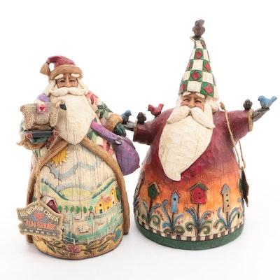"Jim Shore Santa Claus Resin Figurines Including ""Santa with Birds"""