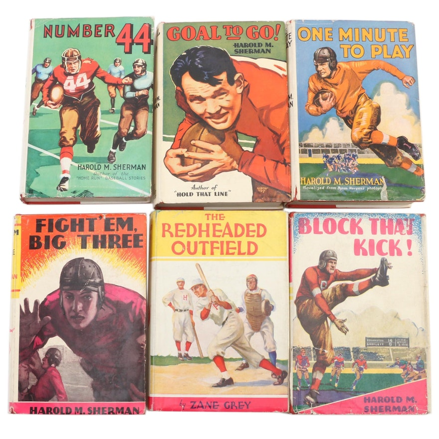 Middle-Grade Sports Fiction by Sherman and Grey, Early 20th Century