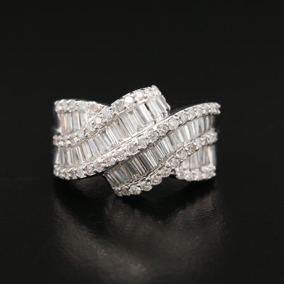 18K 1.72 CTW Diamond Ribbon Ring