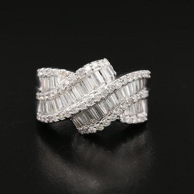18K 1.72 CTW Diamond Ribbon Ring