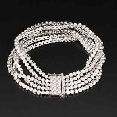 14K 4.50 CTW Diamond Multi-Row Bracelet
