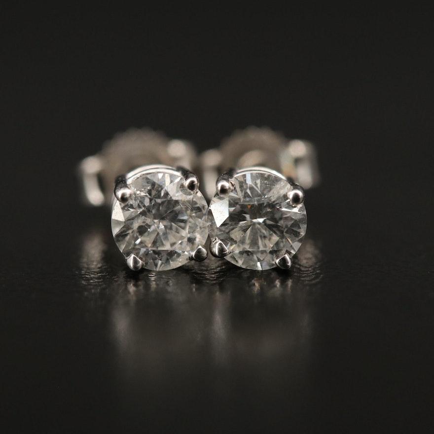 14K 0.79 CTW Diamond Stud Earrings